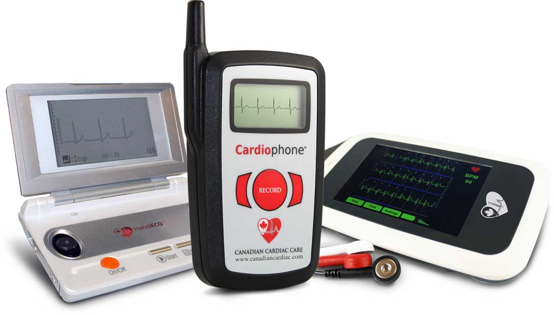Mobile Cardiac Monitoring: HandiECG, Cardiophone & Pocket ECG