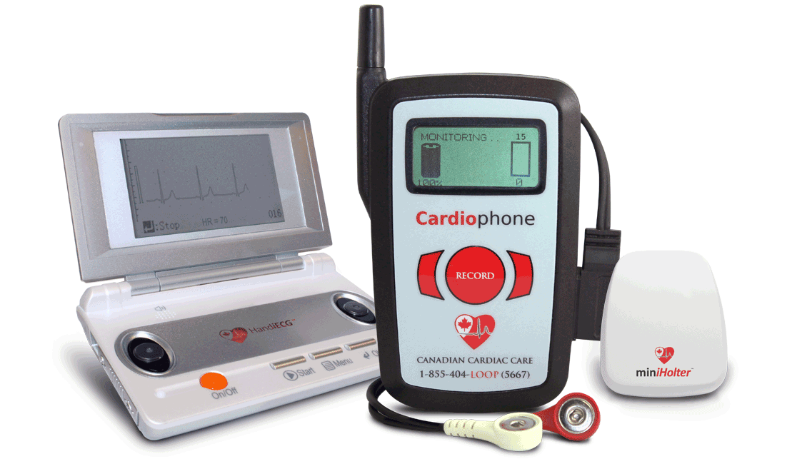 Mobile Cardiac Monitoring: HandiECG, Cardiophone & MiniHolter